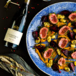 Roasted Springbok Loin in Gremolata with pan fried Gnocchi roasted butternut puree and glazed beetroot