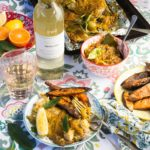 KWV Classic Collection Braai Day Recipe Bo-Kaap Cape Malay Sosatie Sous Snoek with Grilled Sweet potato