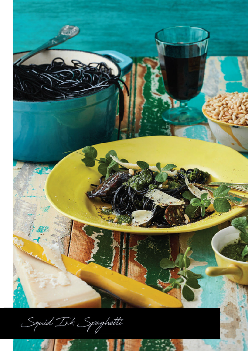 Mynhardt Stasie Kitchen Squid Ink Spaghetti