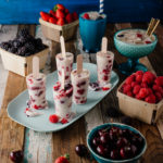 Mixed berry and Wild Africa cream popsicles
