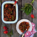 Tomato bredie with mutton, cumin and ginger