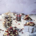 Montagu cranberry, macadamia and linseed dark chocolate bark