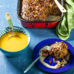 Montagu date and brandy pudding with walnuts