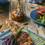 Côte de Boeuf with Lavender and Olive Marinade served with stacked Ratatouille