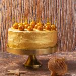 Gold Vanilla Toffee Apple Cake